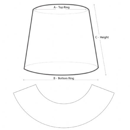 Lampshade Template Pattern 40cm or Under